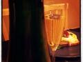 Surdegsbröd, gratinerad getost med fikonmarmelad och sabrerat bubbel .... lördagskväll som det skall vara
