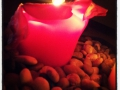 Höstmys i rött som förberedelse för julens hysteri