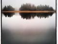 Istället för trängsel på mellandagsrea lugnt och disigt bara vi på sjön