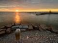 En stilla sommarkväll i Råbäcks hamn