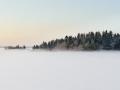 Kall vintermorgon i Roslagen