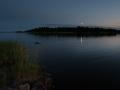 Blå stilla sommarkväll i Roslagen